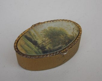 Vintage metal small Forest box, little box, gift idea, collector, retro, vintage, beautiful, old, vintage