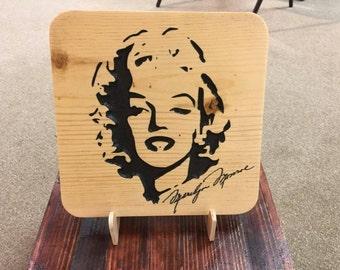 Marilyn Monroe Signature Plaque, Norma Jean, Marilyn Monroe, Norma Jean, Marilyn Monroe Art, Norma Jean Art, Celebrity Art, Christmas Gift