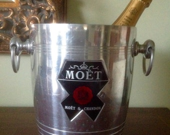 French Champagne Bucket, MOET CHANDON Vintage Wine Cooler Ice Bucket Wedding Decor,Barware Party Supplies,Planter Kitchen Storage,New Years
