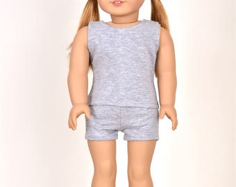 "Combo Set ""Simple Basics"" 18 inch doll clothes Color Grey"
