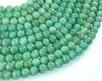 African Amazonite Beads, 7.5mm Round Beads , 15.5 Inch, Full strand, Approx 53 beads, Hole 1mm (103054003)