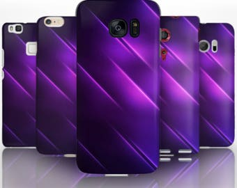 BG0169 Plastic hard case print, personalized/ custom/ personalised phone protective case purple lines