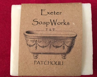 Patchouli - All Natural Handmade Cold Processed Soap - Made in New Hampshire -  Pure and Natural