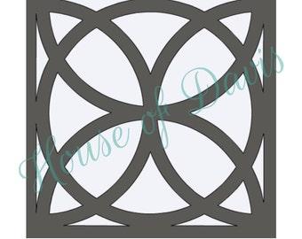 Tile Stencil (Style 4) - 12x12