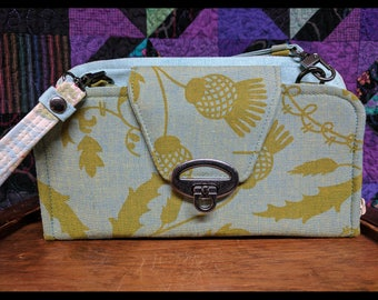 Beresford Zip Around Wallet with Cross Body and Wrist-let Straps