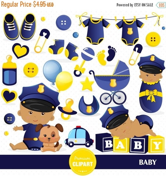 70% OFF SALE Baby shower clipart, Police officer baby, Policeman ...