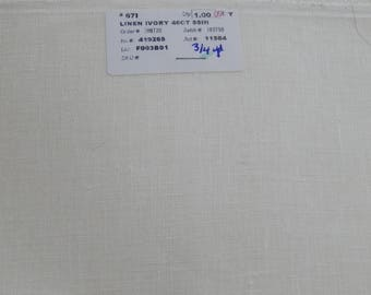 40 ct. Ivory Linen (1/8th yard pricing)
