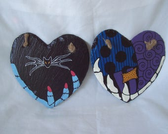Nightmare Before Christmas - The Essence of Jack and Sally Love Hearts