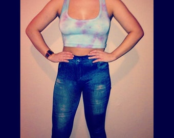 Tye dye crop top for women