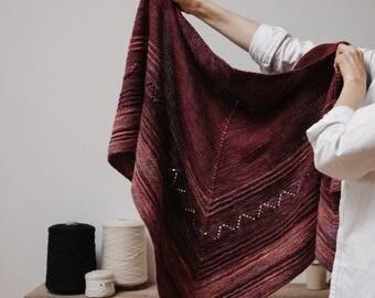 Biches & Bûches no. 38, knitting kit, shawl