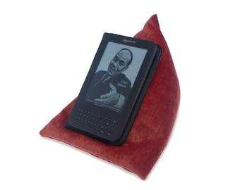 Edge Beanbags Orange Techbed - A Kindle or Tablet Stand Pillow Bean Bag Cushion for all iPad iPad Mini iPad Air Kindle books and e-readers