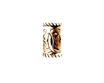 Bronze Medium Beard Ring/ Dreadlock Bead VIKING KRISTALL Kai