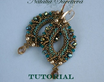 Beading Tutorial, Emerald Earrings, Jewelry Tutorial, Bead Pattern PDF, Instant Download.