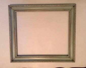 Vintage wall frame, wood antiqued frame,  vintage open frame