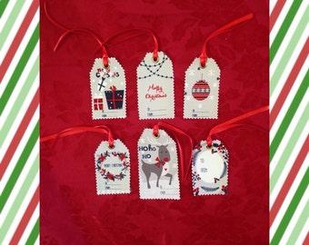 Fabric Xmas Gift Tags