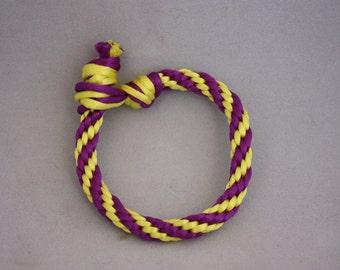 bracelets, braided bracelets, Kumihimo braiding, Kumihimo bracelet, purple and gold bracelets,