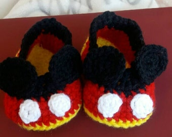 Mickey mouse inspired booties