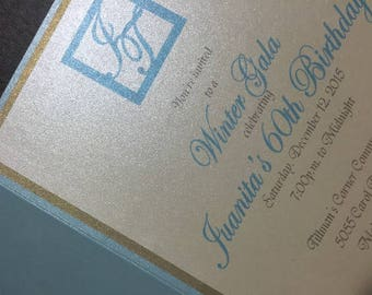 Clutch Invitations with RSVP Cards