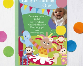 In the Night Garden Birthday Party Invitation
