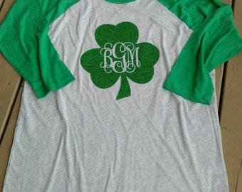 Shamrock Shirt, Clover Shirt, St Patricks Day Shirt, St Patricks Day, Womens St Patricks Day Shirt, Lucky Shirt, monogram shamrock