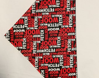 Dog vocabulary bandana