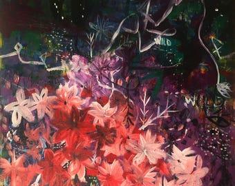 "Stay Wild- 5x5"" Fine Art Giclee Print, Abstract Artwork, Contemporary Art Print"