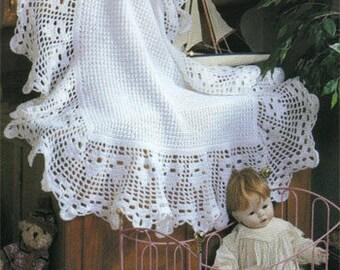 PDF Baby Crochet Pattern- lovely vintage crochet shawl pattern
