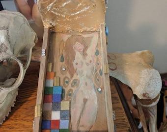 Klimt inspired mini furniture piece