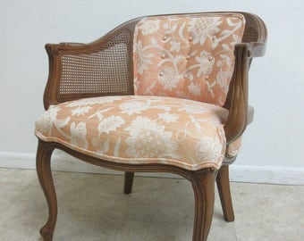 Henredon French Regency Cane Barrel Back lounge living Room Chair A