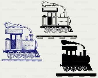 Locomotive svg,train clipart,train svg,silhouette,toy cricut cut files,locomotive clip art,train digital download svg,eps,png,dxf,jpg