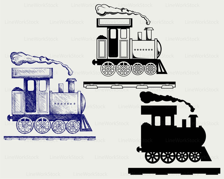 Locomotive Svg Train Clipart Train Svg Silhouette Toy