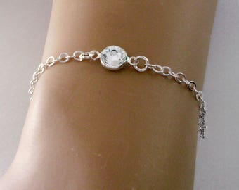 April 925 STERLING Silver Personalized Birthstone BRACELET/ ANKLET - Birthday - Wedding Gift - Gift For Her - Dainty Minimalist Jewelry  usa