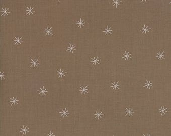 Snowy Stars Cocoa - MERRILY - by Gingiber for Moda Fabrics - Winter Brown - 48213 29