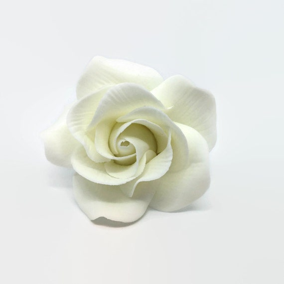 Small White Rose Sugar Flower Gumpaste Rose for Modern Wedding Cake Toppers, Cake Decor, DIY Weddings