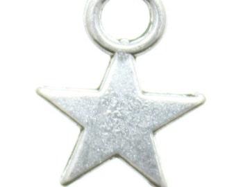 Silver Star Charm, Bracelet Charm, Star Jewel, Star Jewelry, Twinkle Twinkle Little Star Charm, Charm Bracelet, Wish Bracelet Charm