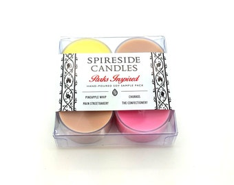 Parks Inspired Sample Pack - Spireside Candles - Disney Candles - Scented Soy Tea Lights