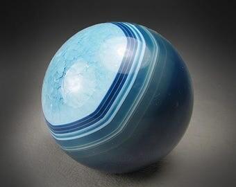Blue Agate Sphere, Rio Grande do Sul, Brazil