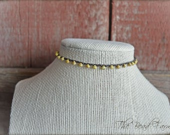 Choker Necklace, Crocheted Choker Necklace, Crochet Wrap Bracelet, Beaded Crochet Jewelry, Wrap Bracelet, Crocheted Jewelry