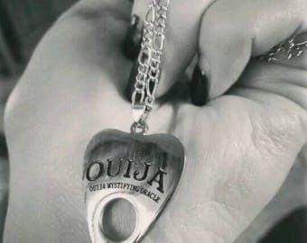 Ouija Planchette Necklace.Wicca Pagan Witch Spirt Board .Goth.Oracle.