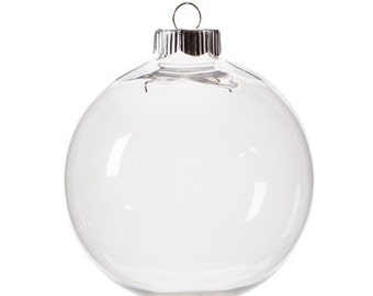 Clear Plastic Shatterproof Round Ornaments- 100mm (3 15/16 Inches)  x 18 Pieces      2610-65B