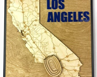 Stadium State Shape - California, Los Angeles (Los Angeles Memorial Coliseum - LA Rams)
