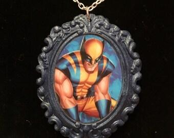 Wolverine X-Men cameo necklace