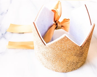 White and Cocoa Sparkle Children's Crown, Birthday Crown, Dress Up crown, Photo Prop, Cake Smash, Glitter Crown, First Birthday, Prince
