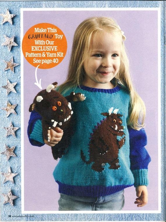 Knitting Pattern For Gruffalo Jumper : GRUFFALO Childrens Sweater Jumper Knitting Pattern. Sizes