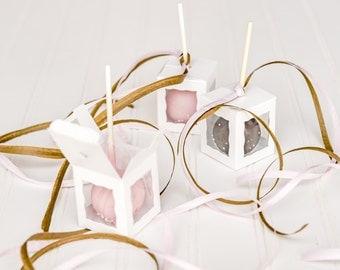 50 White Cake Pop Boxes / 1 3/4 x 1 3/4 x 2