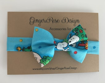 Snoopy Bow Tie; Charlie Brown Christmas Bow Tie;  Holiday Bow Tie; Toddler Bow Tie; Afjustable Bow Tie; Boy's Bow Tie; Baby Bow Tie