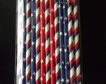 INDEPENDENCE DAY STRAWS