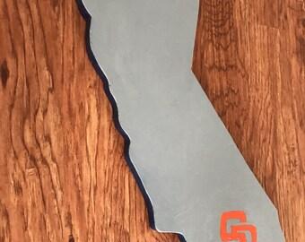 California shape with san diego decal