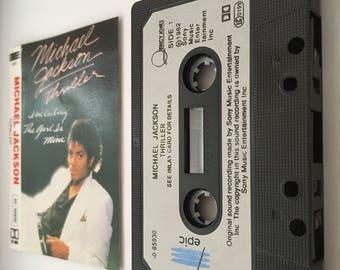"""Michael Jackson """"Thriller"""" - Framed Cassette & Sleeve"""