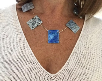 AmyGJewelryDesigns Enamel on Sterling Silver